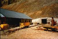 Einfahrt zur Old Hundred Gold Mine, Silverton
