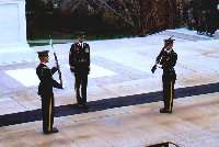 Guard Changing Ceremony am Tomb of the Unknown