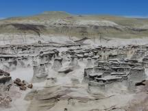 Hoodoos in den Bisti Badlands