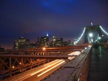 Brooklyn Bridge am Abend