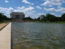 Reflecting Pool, dahinter das Lincoln Memorial