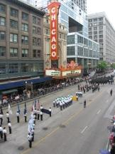 Parade zum Memorial Day auf der State Street in Chicago