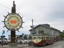 historische Linie F am Fisherman's Wharf in San Francisco