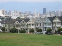 viktorianische Häuser am Alamo Square in San Francisco