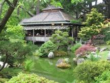 Teehaus im Japanese Tea Garden im Golden Gate Park, San Francisco