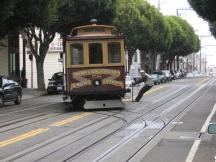 Cable Car der California Street Line auf der Hyde Street