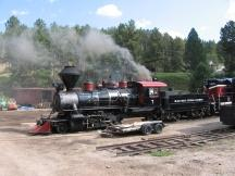Dampflok des 1880 Train in den Black Hills, South Dakota