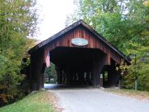 Battleground Bridge bei Waitsfield, Vermont
