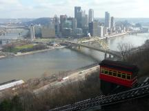 Duquesne Incline Railroad in Pittsburgh, PA