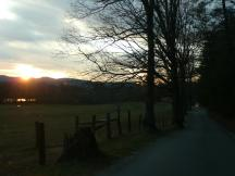 Abendstimmung in Cades Cove, Great Smoky Mountains NP