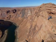 Horseshoe-Bend, der Hufeisenbogen des Colorado River