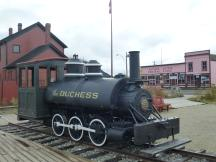 "Dampflok ""Duccess"" der Taku Tram in Carcross, Yukon"